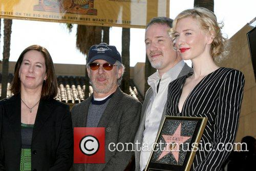 Kathleen Kennedy, David Fincher and Steven Spielberg 2