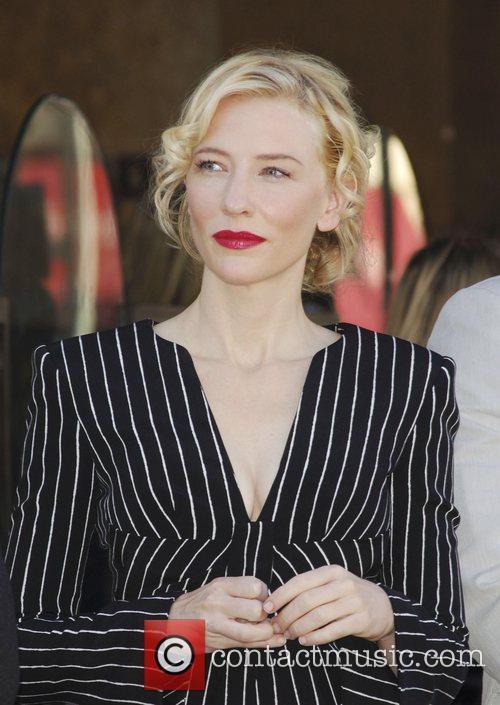 Cate Blanchett receives the 2,376th Star on the...