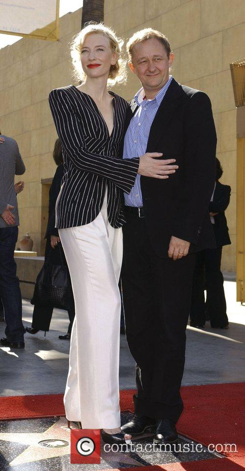 Cate Blanchett, Andrew Upton Cate Blanchett receives the...