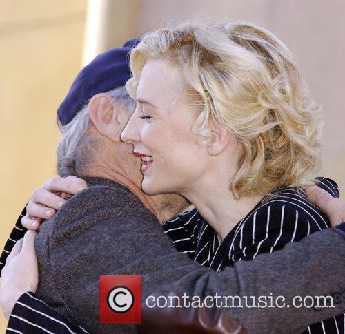 Steven Spielberg, Cate Blanchett  Cate Blanchett receives...