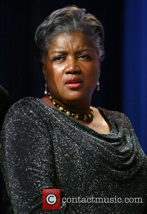 Donna Brazile receives a Phoenix award whilst The...