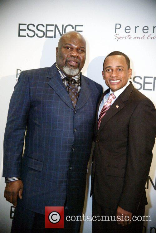 Pastor TD Jakes with Hill Harper Essence and...