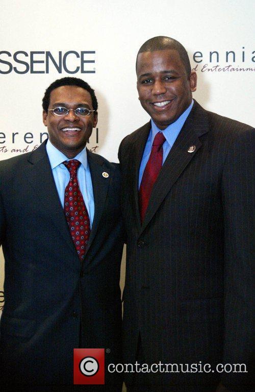 Harold Johnson with Congressman Meeks Essence and PSE...