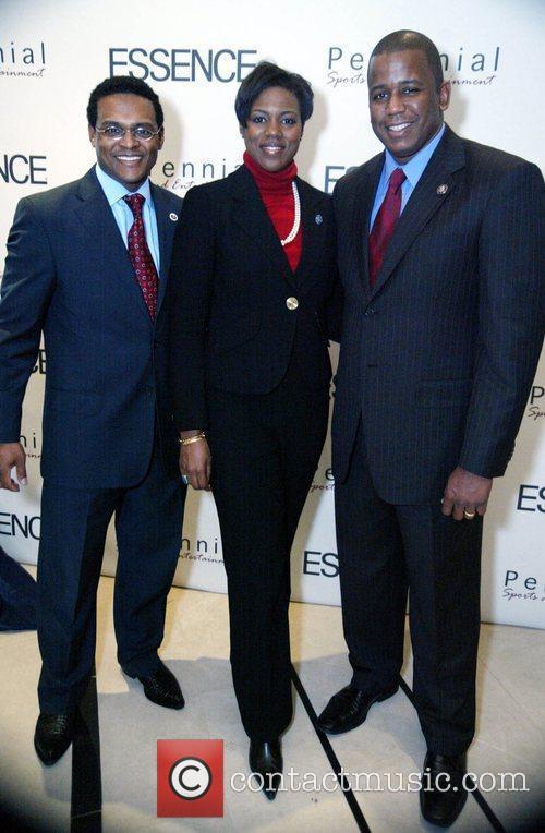 Harold Johnson, Congressman Meeks and his wife Essence...