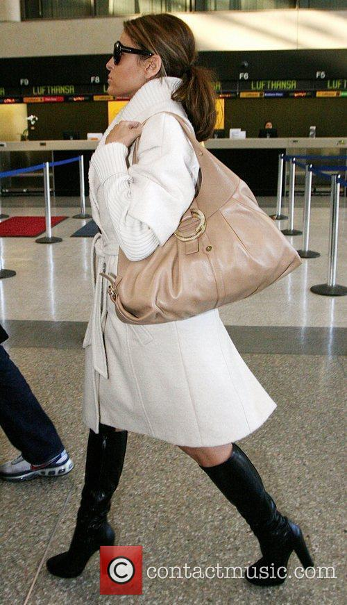 Eva Mendes arriving at LAX airport.
