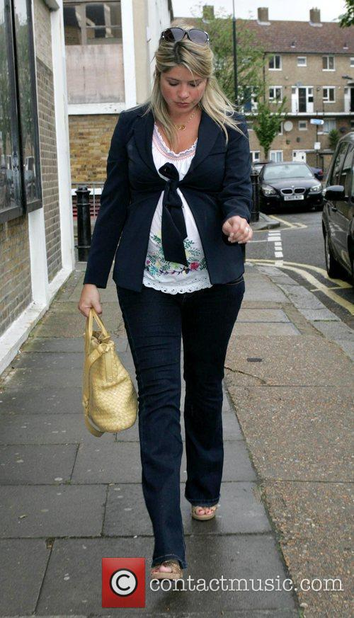 Pregnant Holly Willoughby arriving to film the last...