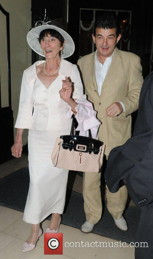 June Brown, John Altman outside Claridge's hotel, where...