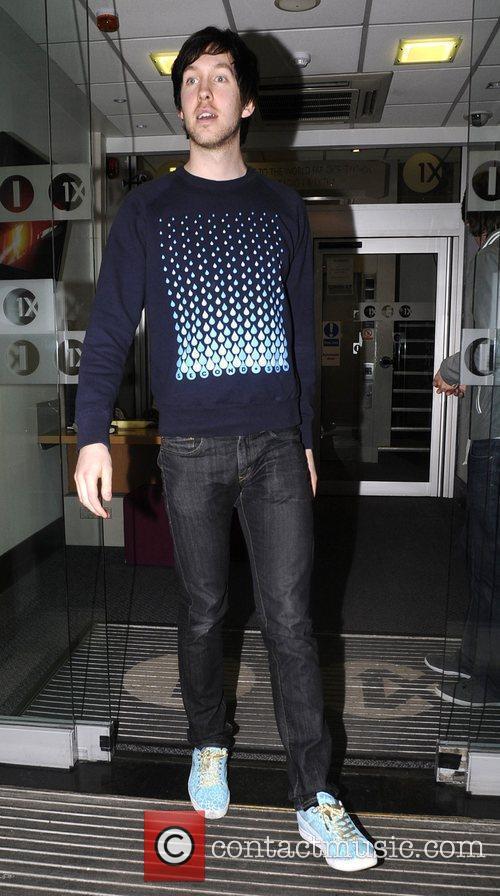 Calvin Harris leaving the Radio one studio London,...