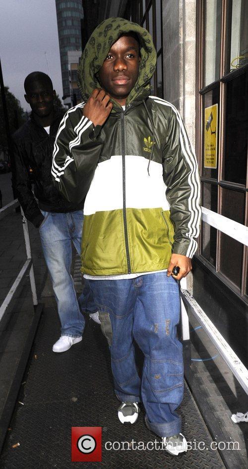 Tinchy Strider leaving the Radio one studio London,...
