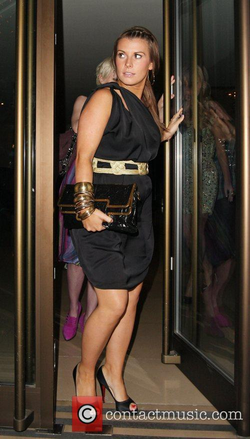 Coleen Rooney leaving the Mayfair hotel and goes...