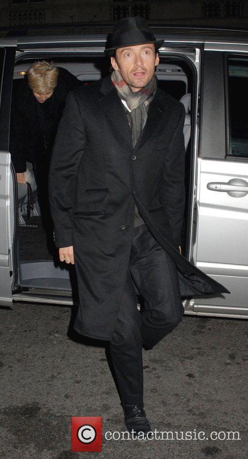 Hugh Jackman arriving at Claridges Hotel in Mayfair....
