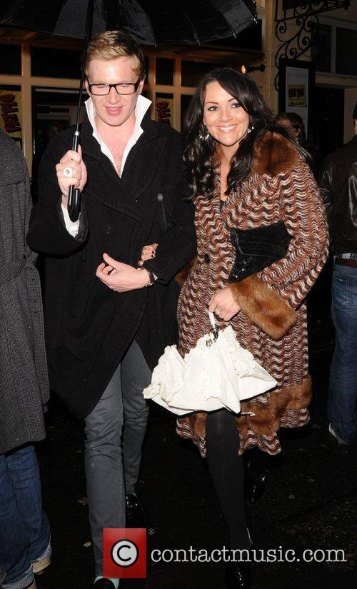 Martine McCutcheon and Henry Conway leaving the Comedy...