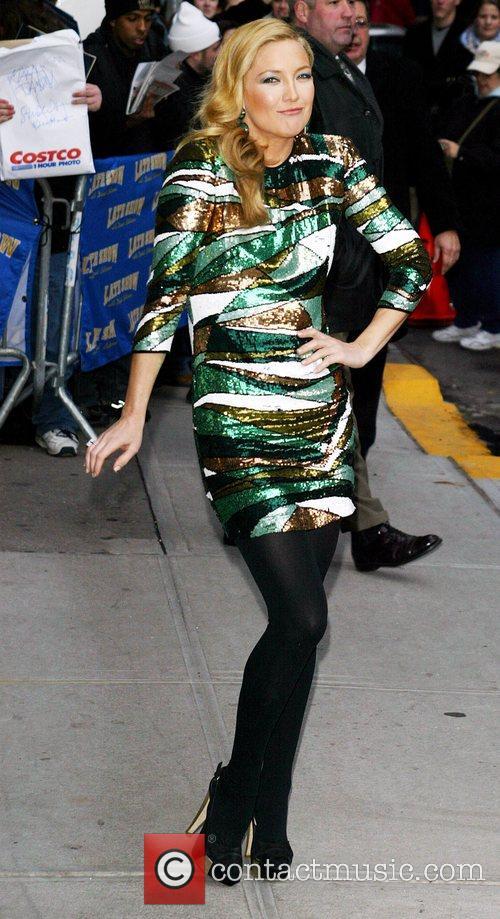 Kate Hudson and David Letterman 12