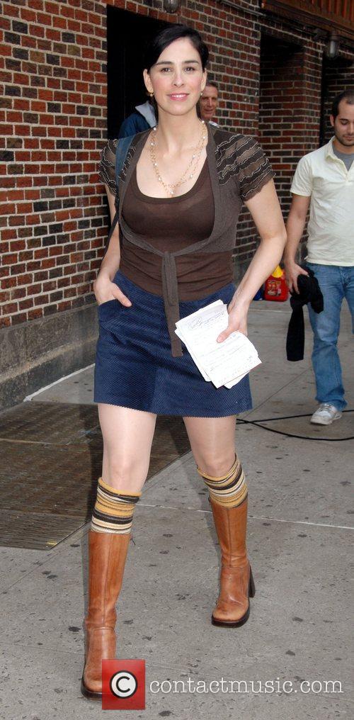 Sarah Silverman and David Letterman 3