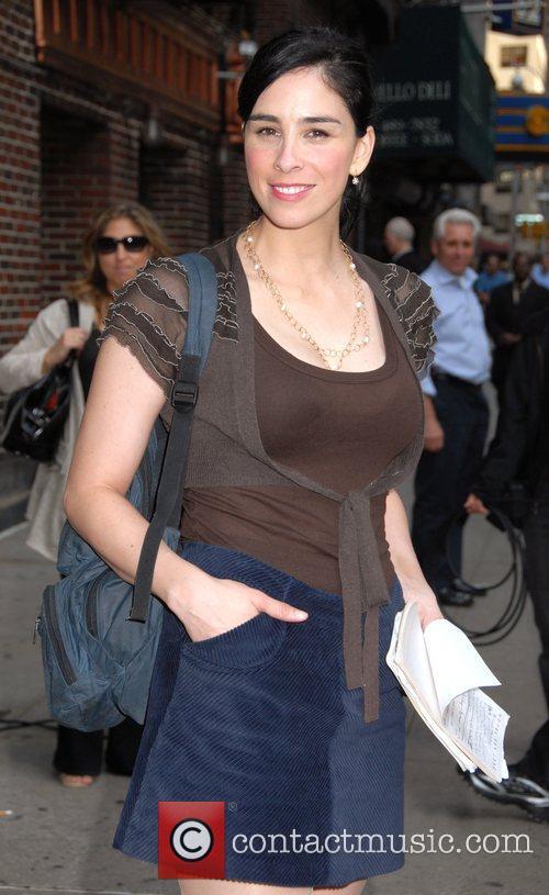 Sarah Silverman and David Letterman 2