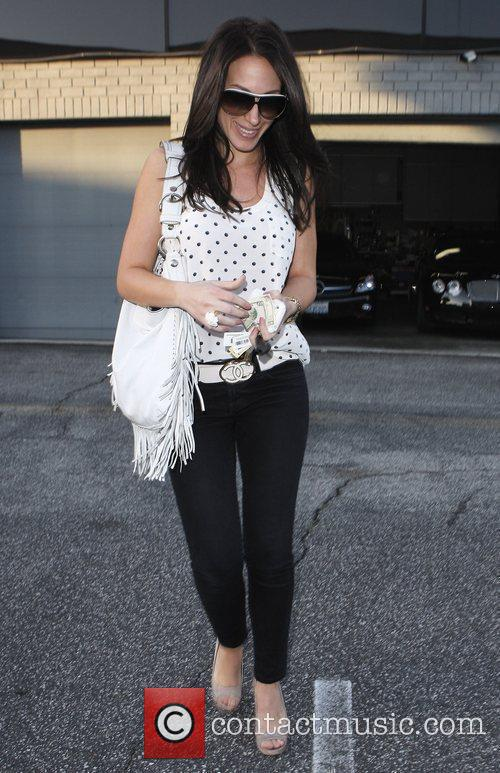 Haley Duff leaving 14 Karat Jewellery store Los...