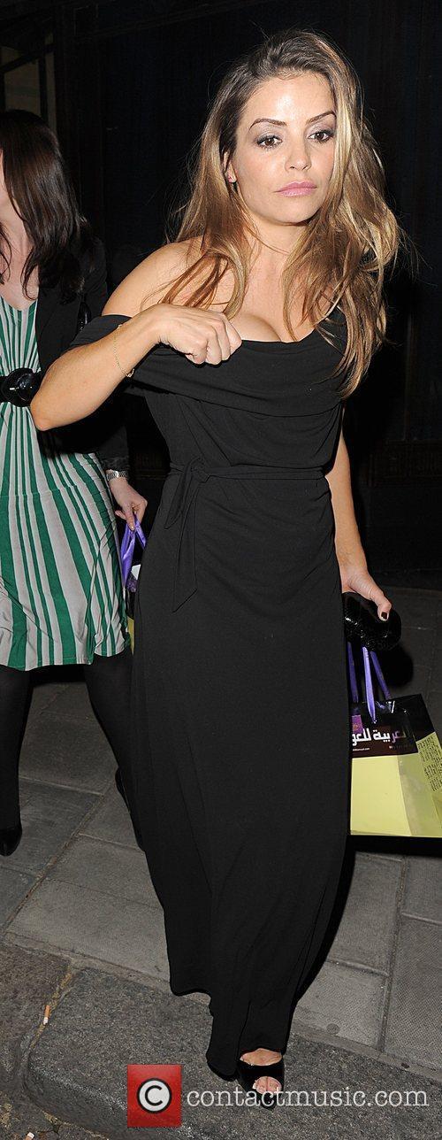 Elen Rives leaving the Dorchester Hotel, having attended...