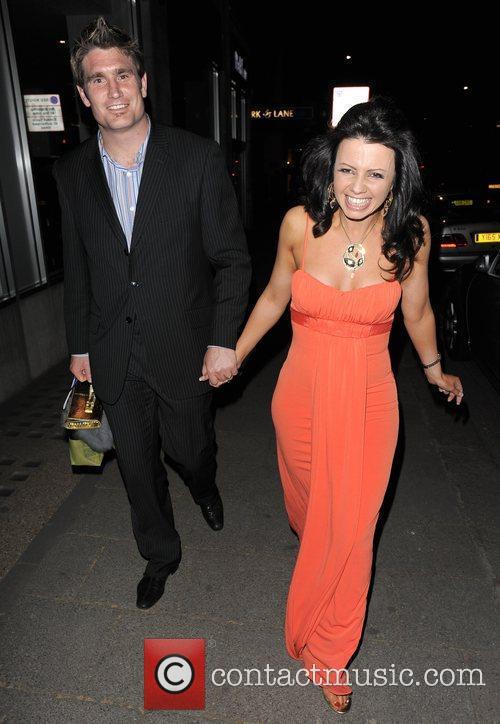 Karen Hardy leaving the Dorchester Hotel, having attended...