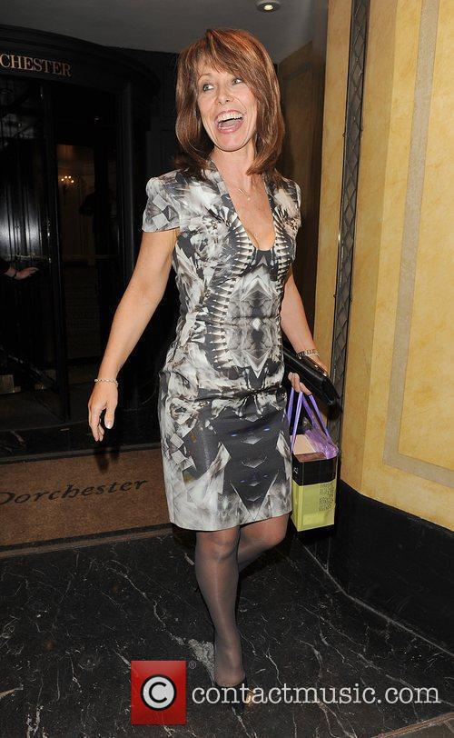 Kay Burley leaving the Dorchester Hotel, having attended...