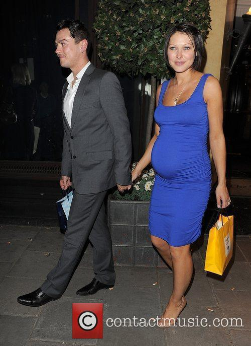 Matt Willis, his pregant wife Emma Griffiths leaving the Dorchester Hotel and having attended a party 4