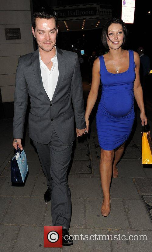 Matt Willis, His Pregant Wife Emma Griffiths Leaving The Dorchester Hotel and Having Attended A Party 3