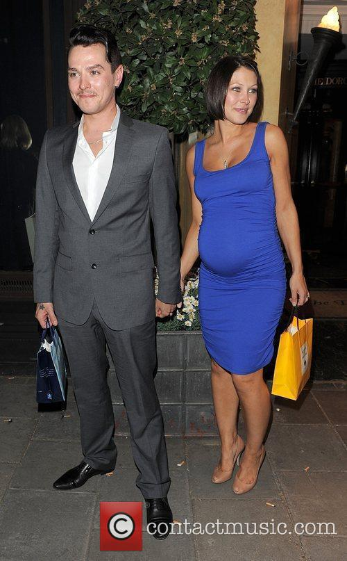 Matt Willis, His Pregant Wife Emma Griffiths Leaving The Dorchester Hotel and Having Attended A Party 5