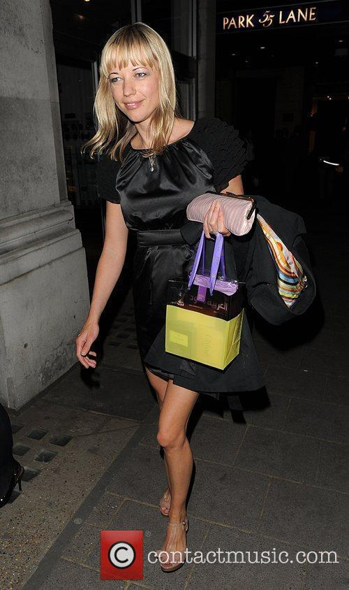 Sara Cox leaving the Dorchester Hotel, having attended...