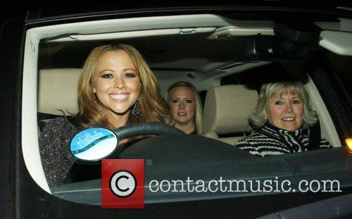 Kimberley Walsh leaving the X Factor Show. London,...