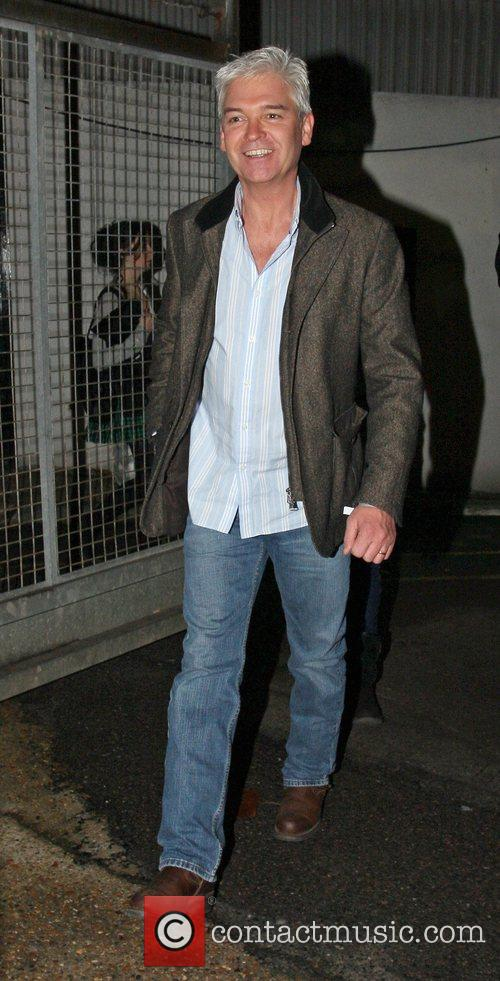 Philip Schofield leaving the X Factor Show. London,...