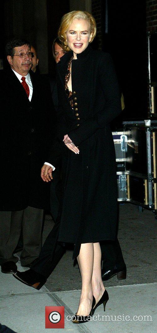 Nicole Kidman and David Letterman 5