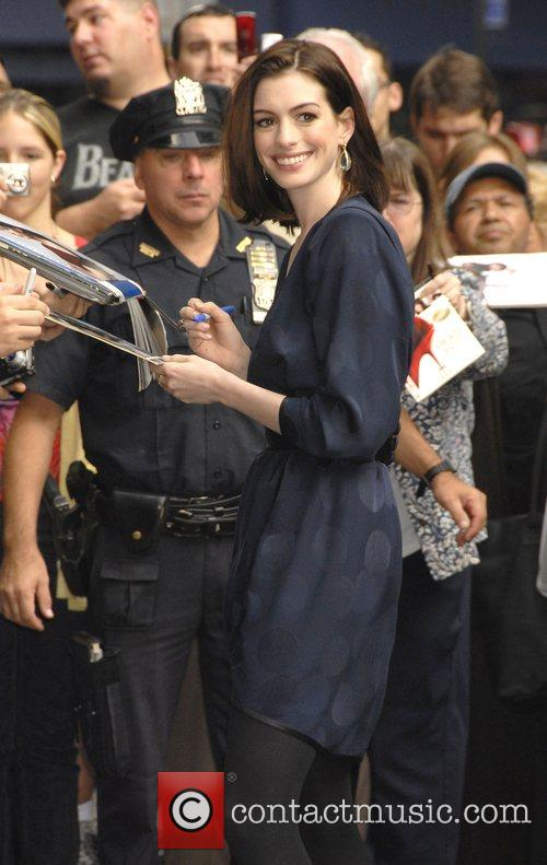 Anne Hathaway and David Letterman 17