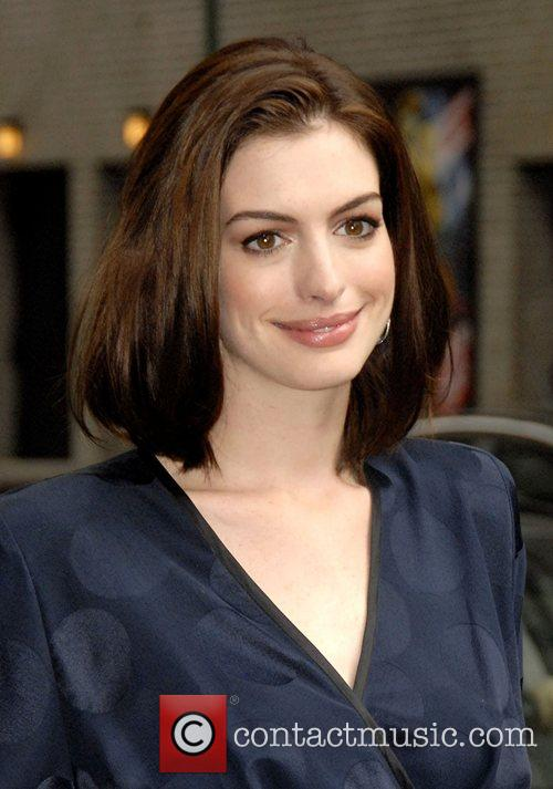 Anne Hathaway and David Letterman 1