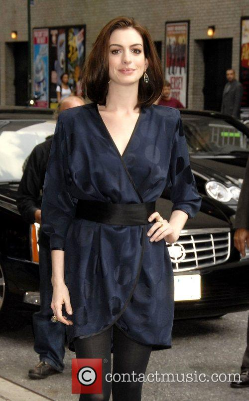 Anne Hathaway and David Letterman 21