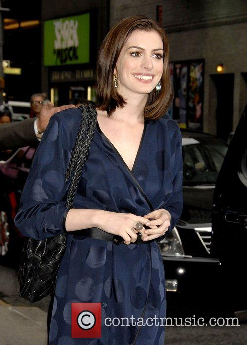 Anne Hathaway and David Letterman 19