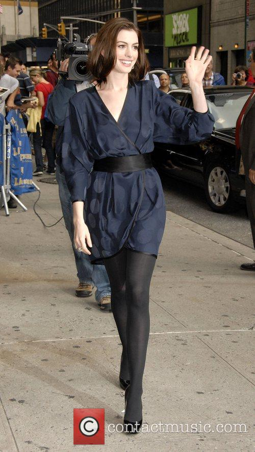 Anne Hathaway and David Letterman 16