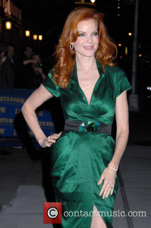 Marcia Cross and David Letterman 2