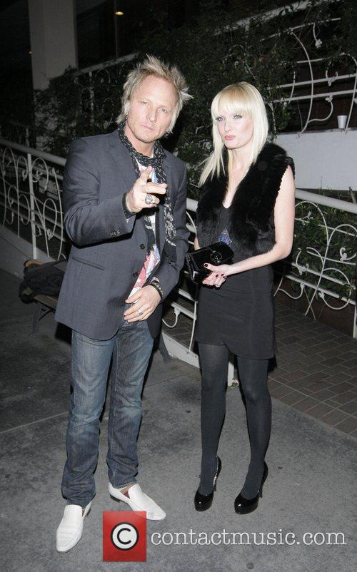 Leaving Madeo restaurant in Beverly Hills