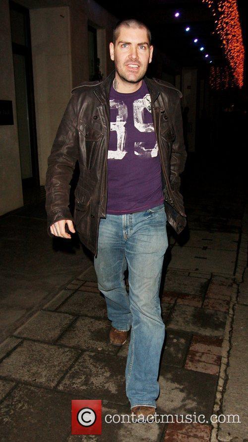 Shane Lynch leaving Mayfair hotel.