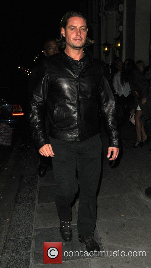 Keith Duffy from Boyzone passing by Nobu Restaurant...