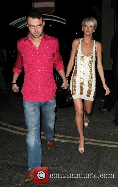 Sarah Harding and Tom Crane  arriving at...