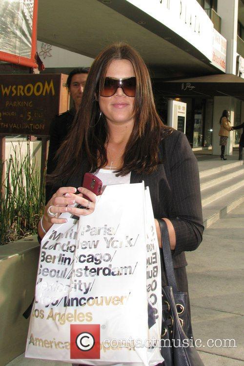 Khloe Kardashian on Robertson Boulevard after shopping at...