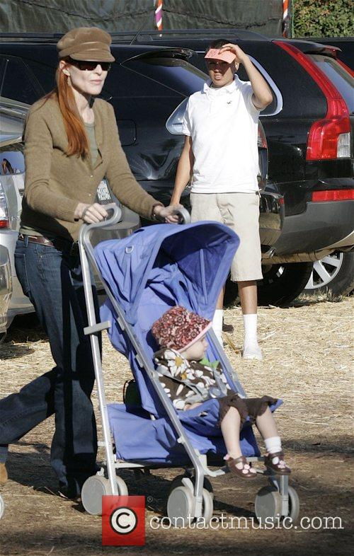 Marcia Cross at pumpkin patch at West Hollywood....