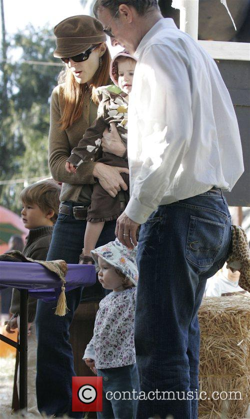 At pumpkin patch at West Hollywood.