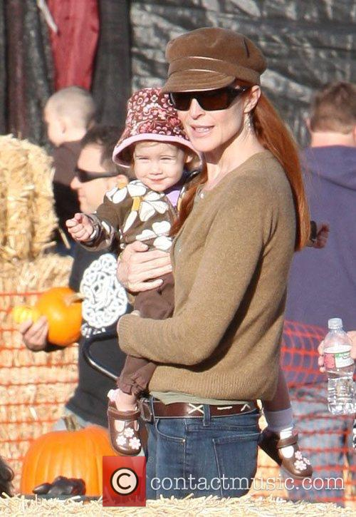 Marcia Cross and Family at Pumpkin Patch in...