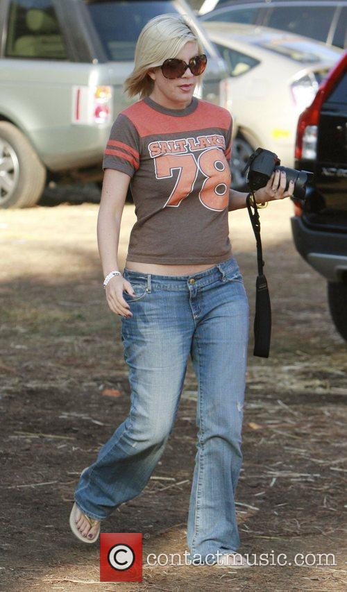Tori Spelling at Pumpkin Patch in West Hollywood....