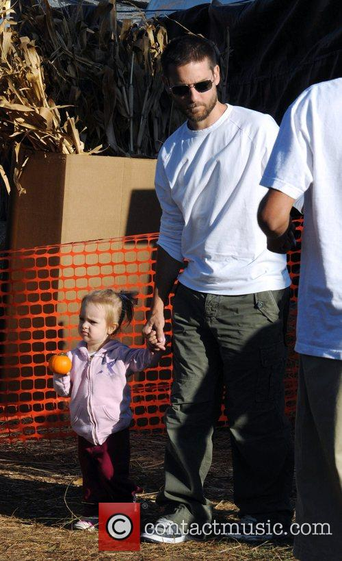Tobey Maguire and daughter Ruby at Pumpkin Patch...
