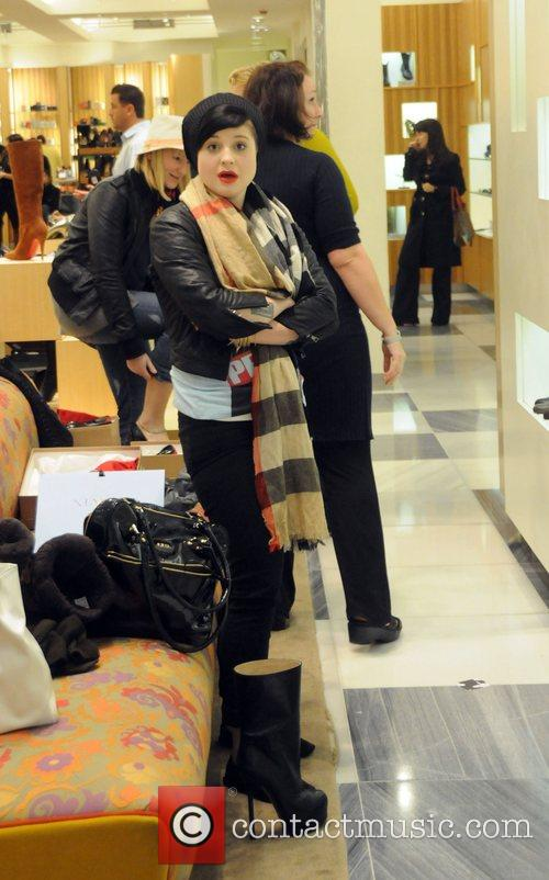Kelly Osbourne browsing the shoe department as she...