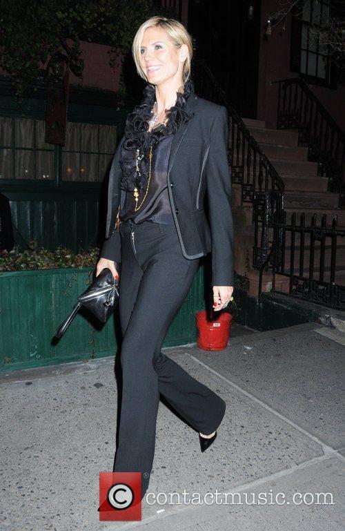 Heidi Klum leaving The Waverly Inn restaurant New...