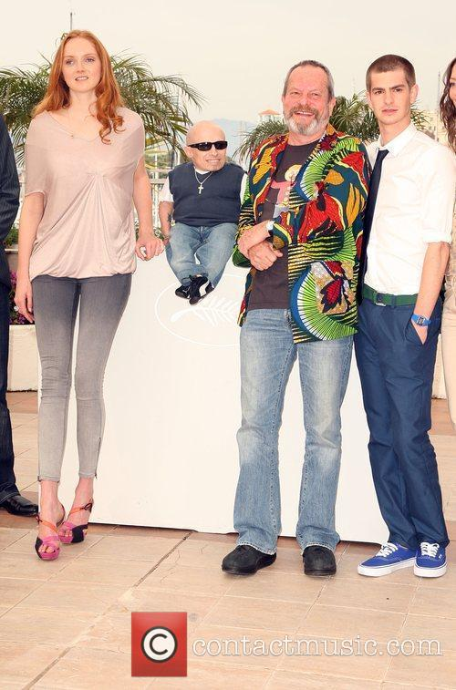 Lily Cole, Terry Gilliam and Verne Troyer 5
