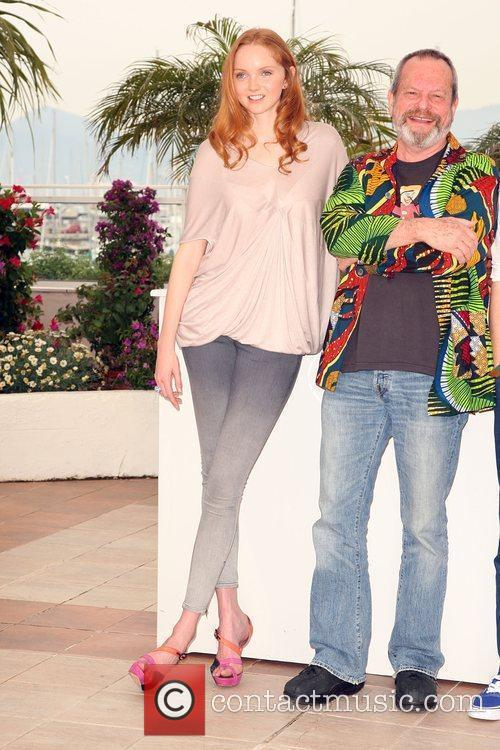 Lily Cole and Terry Gilliam 2009 Cannes International...